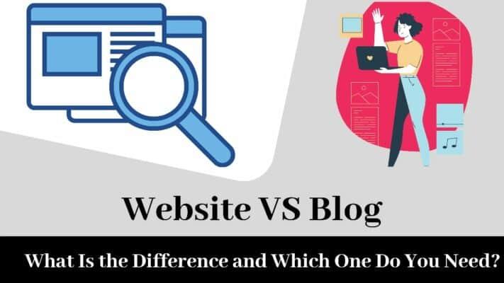 موقع ويب أم مدونة